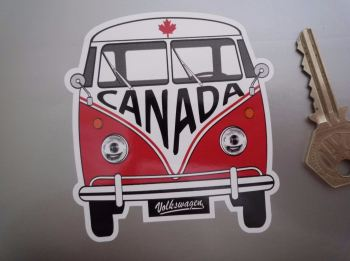 "Canada Volkswagen Campervan Travel Sticker. 3.5""."