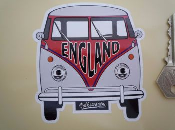 "England Volkswagen Campervan Travel Sticker. 3.5""."