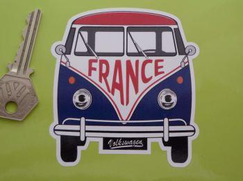"France Volkswagen Campervan Travel Sticker 3.5"""
