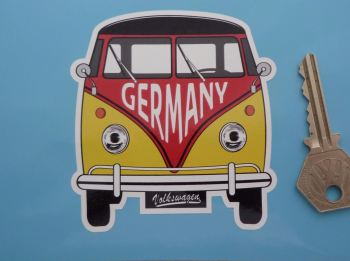 "Germany Volkswagen Campervan Travel Sticker. 3.5""."