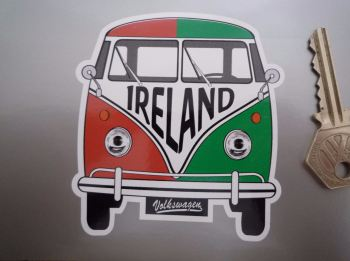 "Ireland Volkswagen Campervan Travel Sticker. 3.5""."