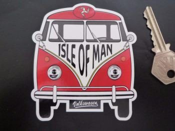 "Isle of Man Volkswagen Campervan Travel Sticker. 3.5""."