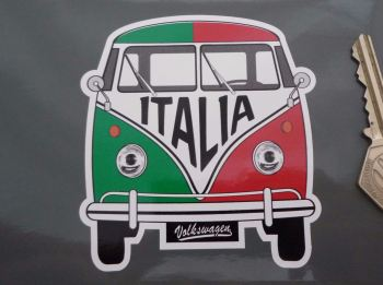 "Italy Volkswagen Campervan Travel Sticker. 3.5""."