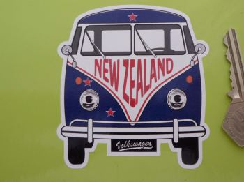 "New Zealand Volkswagen Campervan Travel Sticker. 3.5""."