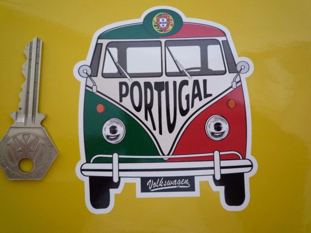 """Portugal Volkswagen Campervan Travel Sticker. 3.5""""."""