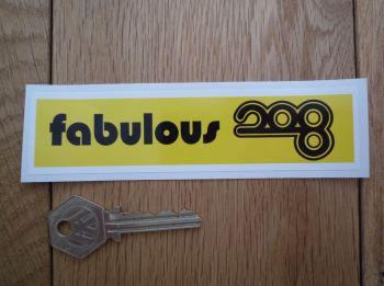 "Radio Luxembourg 'Fabulous 208' 1960's Pirate Radio Sticker. 5.25""."