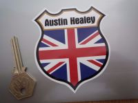 "Austin Healey Union Jack Shield Sticker. 3""."