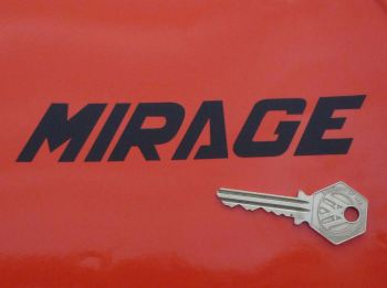 "Laverda Mirage Cut Text Stickers. 6"" Pair."