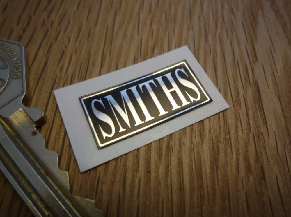 Smiths Heater Labels Black & Foil Sticker. 1