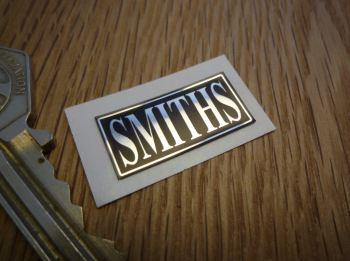 "Smiths Black & Foil Oblong Heater Label Sticker. 1""."