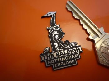 "Raleigh Headstock Self Adhesive Bicycle Badge. 1.75""."