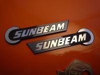 "Sunbeam Self Adhesive Handed Bike Badges. 2.5"" Pair."