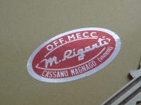 M.Riganti Off.Mecc. Cassano Magnago (Varese) Jack Sticker. 40mm.
