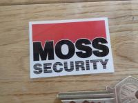 Moss Security Car Window Sticker. 60mm.