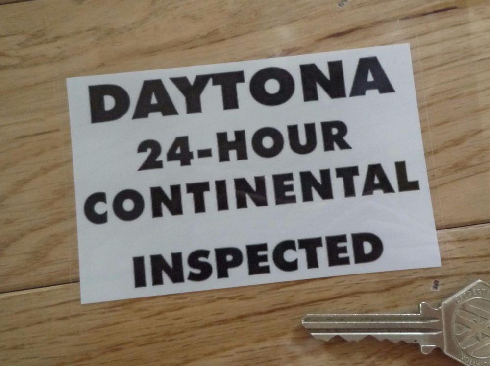 "Daytona 24-Hour Continental Inspected Window Sticker. 4.5""."