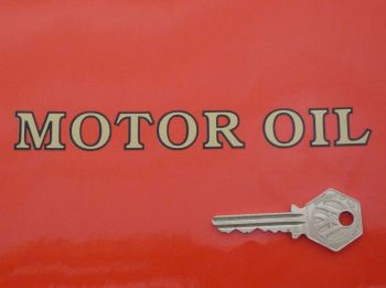 "Shell Motor Oil Outlined Text Stickers. 6"" or 9"" Pair."