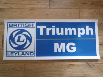 "British Leyland, Triumph & MG, Large Workshop Sticker. 23.5""."