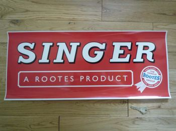 "Singer A Rootes Product Workshop Sticker. 23.5""."