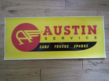 "Austin Service Cars Truck Spares Workshop Sticker. 23.5""."