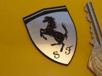 "Ferrari Shield Laser Cut Self Adhesive Car Badge. 2""."