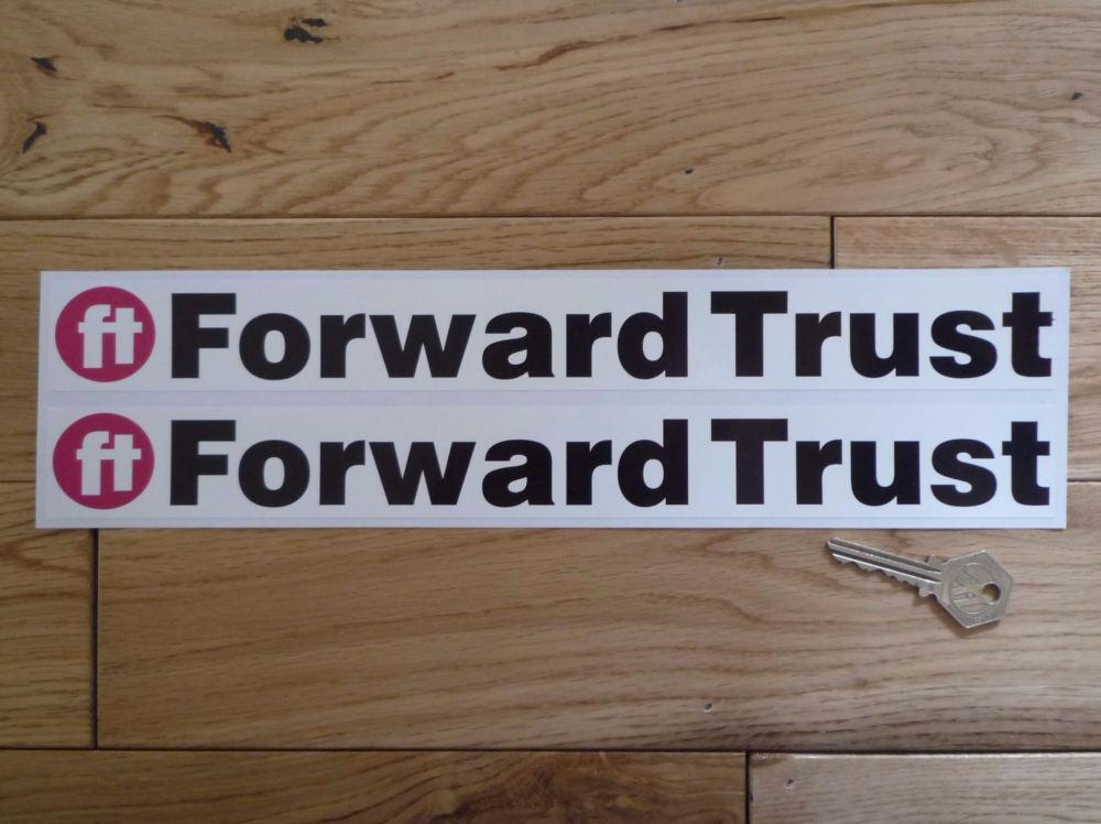 "Forward Trust Oblong Stickers. 13.5"" Pair."