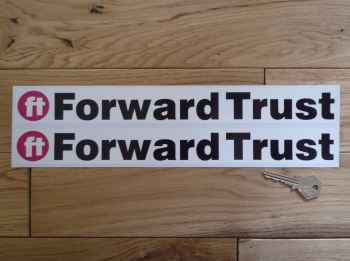 "Forward Trust Oblong Stickers. 13.5"" Pair."