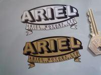 """Ariel Motors Ltd Oval & Banner Logo Sticker. 3.25"""" or 4.75""""."""