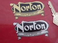 Norton Motors Ltd Oval & Banner Logo Sticker. 3.25