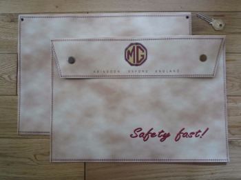 MG Safety Fast Beige Large A4 Document Holder/Toolbag.
