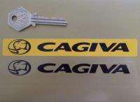 "Cagiva Number Plate Dealer Logo Cover Sticker. 5.5""."