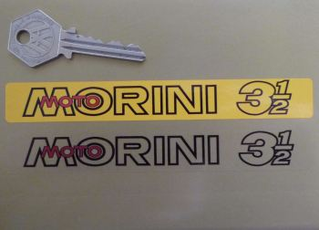"Moto Morini 3 1/2 Number Plate Dealer Logo Cover Sticker. 5.5""."