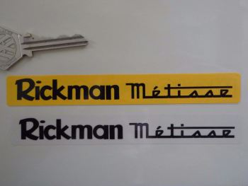 "Rickman Metisse Number Plate Dealer Logo Cover Sticker. 5.5""."
