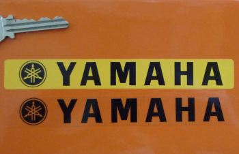 "Yamaha Number Plate Dealer Logo Cover Sticker. 5.5""."