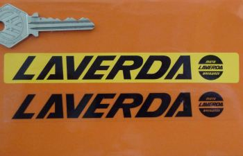 "Laverda Number Plate Dealer Logo Cover Sticker. 5.5""."