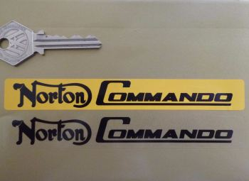 "Norton Commando Number Plate Dealer Logo Cover Sticker. 5.5""."