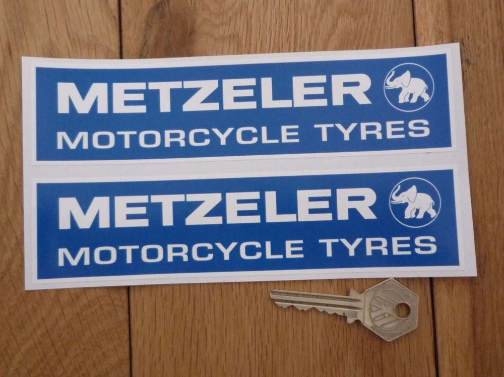 Metzeler Motorcycle Tyres Oblong Stickers. 4