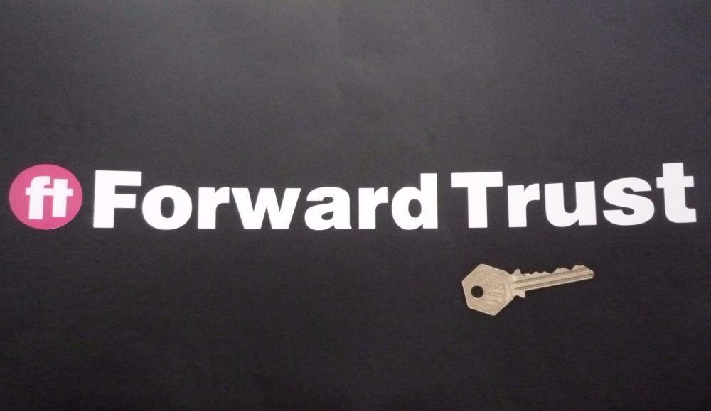 """Forward Trust Cut Text Stickers. 13.25"""" Pair."""