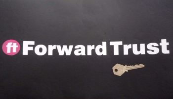 "Forward Trust Cut Text Stickers. 13.25"" Pair."