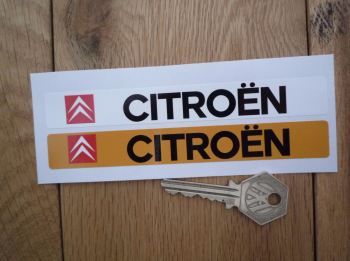 "Citroen Number Plate Dealer Logo Cover Stickers. 5.5"" Pair."