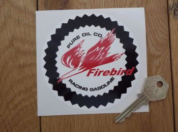 "Pure Firebird Racing Gasoline Circular Sticker. 4""."