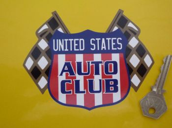 "United States Auto Club Sticker. 4"" or 6"""