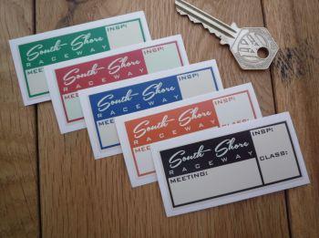 "South Shore Raceway Inspection Scrutineers Sticker. 2.75""."