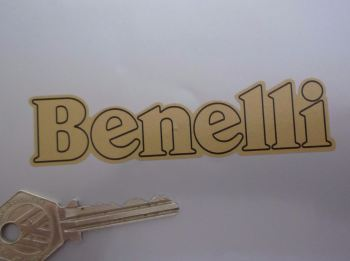 "Benelli Cut To Shape Outline Style Text Stickers. 4"" or 6"" Pair."