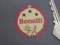 Benelli Red & Gold Style Garland Sticker. 2