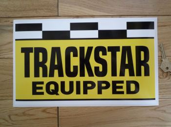 """Trackstar Equipped Oblong Stickers. 12""""."""