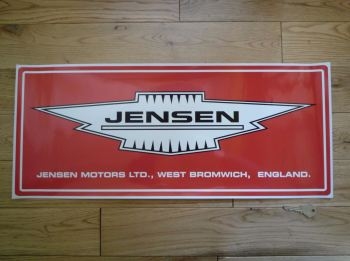"Jensen Motors Ltd Large Workshop Sticker. 23.5""."