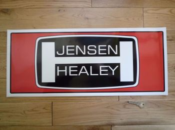 "Jensen Healey Large Workshop Sticker. 23.5""."
