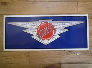 "Jensen Winged Logo Large Workshop Sticker. 23.5""."