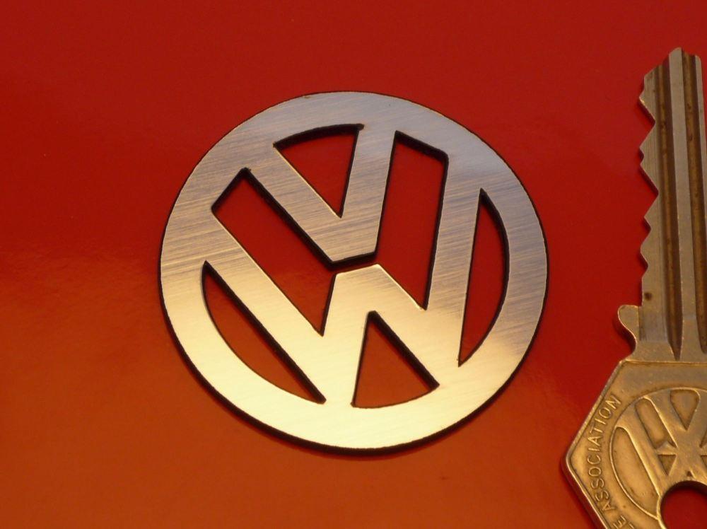 VW Cut Out Logo Laser Cut Self Adhesive Car Badge. 43mm.