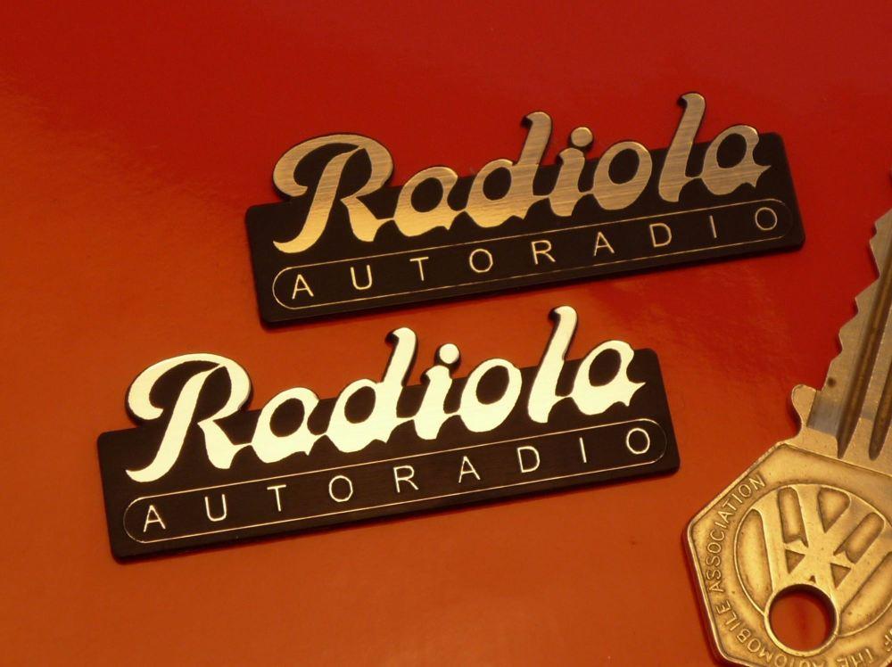 "Radiola Autoradio Self Adhesive Car Badge. 2.25"""